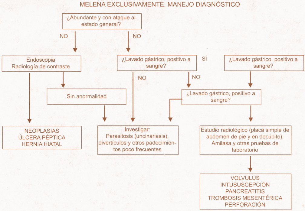 melena manejo diagnostico